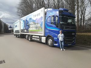 Dixon Driver Virginija with her truck and trailer combination